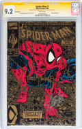 Modern Age (1980-Present):Superhero, Spider-Man #1 Gold Edition - Signature Series (Marvel, 1990) CGCNM- 9.2 White pages....