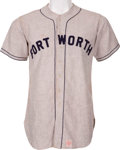 Baseball Collectibles:Uniforms, 1946 Duke Snider Game Worn Fort Worth Cats Jersey with Photo Match....