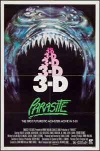 "Parasite & Other Lot (Embassy, 1982). One Sheet (27"" X 41""), Lobby Card Sets of 8 (2) (11"" X 14&q..."