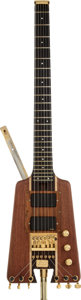 Musical Instruments:Electric Guitars, 1984 Warwick Nobby Meidel Natural Solid Body Electric Guitar,Serial # NR038....