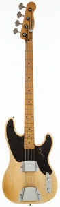 Musical Instruments:Bass Guitars, 1955 Fender Precision Bass Blonde Electric Bass Guitar, Serial # 0878....