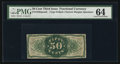 Fractional Currency:Third Issue, Fr. 1339SP 50¢ Third Issue Spinner Type II PMG Choice Uncirculated 64.. ...