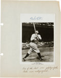 Autographs:Photos, 1948 Babe Ruth Signed Photograph--One of the Last 500 He Signed....