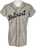 Baseball Collectibles:Uniforms, 1948 Paul Campbell Game Worn Detroit Tigers Jersey....