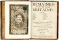 Books:World History, Camden, William. Remaines Concerning Britaine: TheirLanguages,. Names, Surnames, Allusions, Anagramms,Armori...