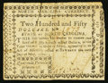 Colonial Notes:North Carolina, North Carolina May 10, 1780 $250 Quaerenda Pecunia Primum Est. VeryFine.. ...