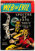 Golden Age (1938-1955):Horror, Web of Evil #10 (Quality, 1954) Condition: VG....