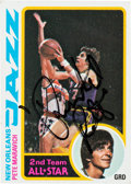 Autographs:Sports Cards, Signed 1978 Topps Pete Maravich #80. ...