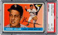 Baseball Cards:Singles (1950-1959), 1955 Topps Sherm Lollar #201 PSA NM-MT+ 8.5 - Pop Two, None Higher! ...