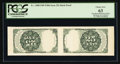 Fractional Currency:Fifth Issue, 25¢ Fifth Issue Uncut Tete-Beche Horizontal Pair PCGS Choice New 63.. ...