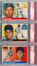 Baseball Cards:Lots, 1955 Topps Baseball PSA Mint 9 Trio (3)....