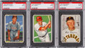 Baseball Cards:Lots, 1952 Bowman Baseball PSA Mint 9 Trio (3)....
