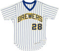 Baseball Collectibles:Uniforms, 1978 Von Joshua Game Issued Milwaukee Brewers Jersey. ...
