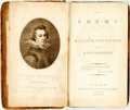 Books:Literature Pre-1900, Drummond, William. The Poems of William Drummond ofHawthornden. London: for E. Jeffrey, 1791. 8vo. A4, B-X8, Y...