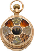 Timepieces:Pocket (pre 1900) , Waltham Gold-in-Quartz Box Hinge For Shreve & Co. San Francisco, circa 1879. ...