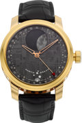 Timepieces:Wristwatch, Martin Braun Very Fine Rose Gold FC-B Selene With Meteorite Dial....