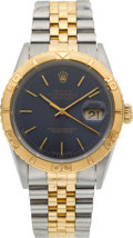 Timepieces:Wristwatch, Rolex Ref. 16263 Gent's Two Tone Oyster Perpetual Datejust, Thunderbird Bezel, circa 1996. ...