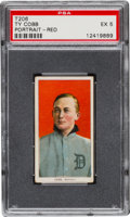 Baseball Cards:Singles (Pre-1930), 1909-11 T206 Sweet Caporal Ty Cobb, Red Portrait PSA EX 5. ...
