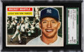 Baseball Cards:Singles (1950-1959), 1956 Topps Mickey Mantle #135 SGC 92 NM/MT+ 8.5....