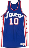 Basketball Collectibles:Uniforms, 1973-74 Philadelphia 76ers Game Worn #10 Jersey. ...