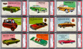 """Non-Sport Cards:Sets, 1954/55 Topps """"World on Wheels"""" Rare High Numbers #161-180 PSAGraded Complete Run (20). ..."""