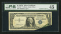 Error Notes:Foldovers, Fr. 1620* $1 1957A Silver Certificate Star. PMG Choice ExtremelyFine 45.. ...