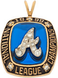Baseball Collectibles:Others, 1999 Atlanta Braves National League Champions Pendant. ...