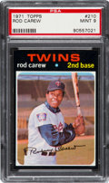 Baseball Cards:Singles (1970-Now), 1971 Topps Rod Carew #210 PSA Mint 9 - None Higher. ...