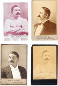 Boxing Cards:General, 19th Century John L. Sullivan Quartet (4) With Two Cabinet Photos....