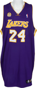 Basketball Collectibles:Uniforms, 2007-08 Kobe Bryant Game Worn Los Angeles Lakers Jersey &Shorts With 60th Anniversary Patch. ...