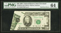 Error Notes:Foldovers, Fr. 2079-D $20 1993 Federal Reserve Note. PMG Choice Uncirculated64.. ...