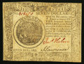 Colonial Notes:Continental Congress Issues, Continental Currency September 26, 1778 $7 Very Fine.. ...