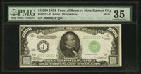 Fr. 2211-J* $1,000 1934 Federal Reserve Note. PMG Choice Very Fine 35