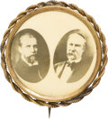Political:Pinback Buttons (1896-present), Hughes & Fairbanks: Wonderful Real Photo Jugate....
