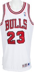 Basketball Collectibles:Uniforms, 2000's Michael Jordan UDA Signed Chicago Bulls Jersey. ...