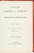 Books:Children's Books, Lewis Carroll. Alice's Adventures in Wonderland, and Through theLooking Glass. New York: Macmillan and Co., 1885. N...
