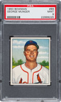 Baseball Cards:Singles (1950-1959), 1950 Bowman George Munger #89 PSA Mint 9 - Pop One, One Higher. ...