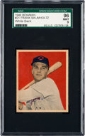 Baseball Cards:Singles (1940-1949), 1949 Bowman Frank Baumholtz #21 SGC 96 Mint 9 - Pop Two, None Higher. ...