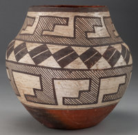 AN ACOMA POLYCHROME JAR c. 1900