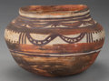 American Indian Art:Pottery, A HOPI (POLACCA) POLYCHROME JAR. c. 1880...