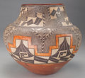 American Indian Art:Pottery, AN ACOMA POLYCHROME JAR. c. 1890...