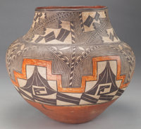 AN ACOMA POLYCHROME JAR c. 1890