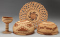 American Indian Art:Baskets, FOUR NORTHERN CALIFORNIA TWINED BASKETRY ITEMS. c. 1930... (Total:4 Items)