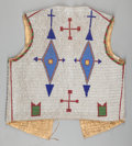 American Indian Art:Beadwork and Quillwork, A SIOUX PICTORIAL BEADED HIDE VEST . c. 1890...