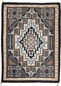 American Indian Art:Weavings, A NAVAJO REGIONAL RUG. Two Gray Hills. c. 1945...