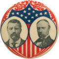 Political:Pinback Buttons (1896-present), Roosevelt & Fairbanks: Rarely Seen Jugate....