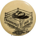 Political:Pinback Buttons (1896-present), Theodore Roosevelt: Hat in the Ring Rebus Pin....