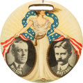 Political:Pinback Buttons (1896-present), Wilson & Marshall: Large Miss Liberty Jugate....