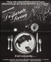 "Desperate Living & Other Lot (Saliva Films, 1977). Special Poster (17"" X 20.5"") & Scratch and..."