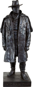 Antiques:Decorative Americana, Ulysses S. Grant: Large Standing Bronze....